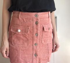 Stradivarius roza suknja
