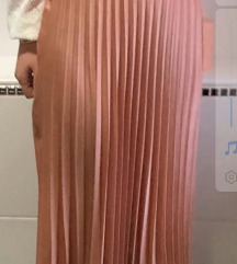 Plisirana roza suknja Zara