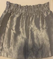 Metalik srebrna h&m suknja