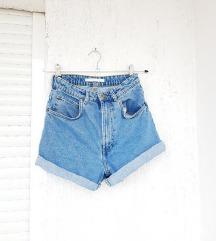 ZARA plave kratke jeans traper hlače
