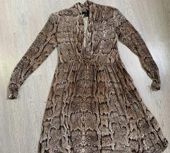 H&M haljina zmijski uzorak xs