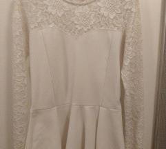 Amisu peplum bijela majica