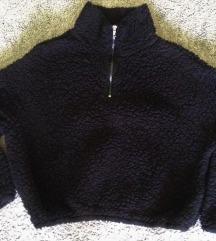 H&M crna crop majica
