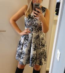 H&M crno-siva haljina bez rukava