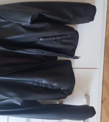 Zara kožna bomber jakna