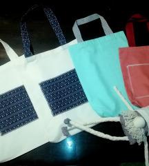 Platnene torbe + pamučne maskice