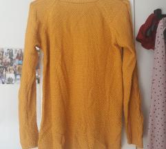 Stradivarius pulover žuti
