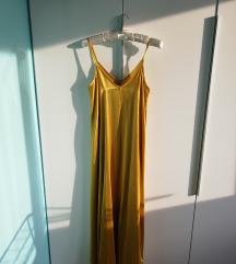 Zlatna satenska haljina