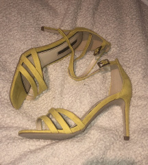 % Miss Selfridge žute sandale štikle 37