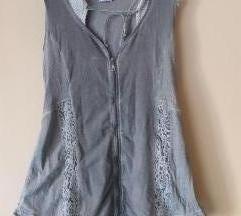 Vilinski sivi prsluk/tunika/haljina