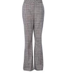 Sive karirane trapez hlače