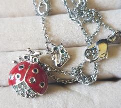 ogrlica swarovski i srebrne naušnice