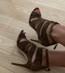 Zara sandale prava koža