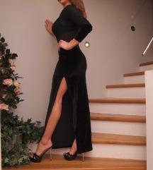 crna duga haljina - sniženo