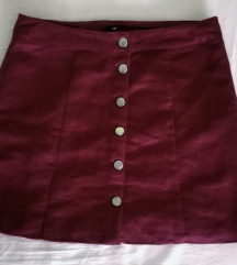 H&M Bordo Suknja