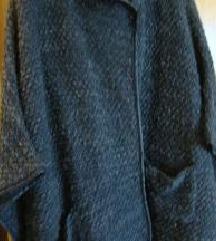 Pelerina - pončo bukle siva
