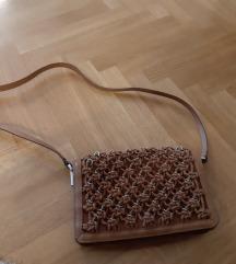 Zara kožna smeđa torba