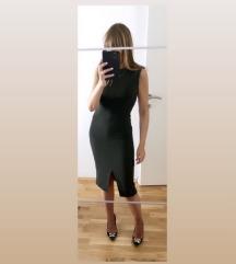 Massimo Dutti maslinasta haljina
