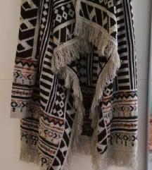 Unikatna pletena wrap vesta