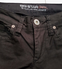 BIG star crne traperice,ravne nogavice, Uklj.Tisak
