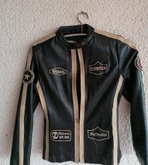 kožna bajkerska jakna vel s