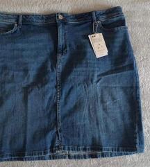 Plus size jeans suknja
