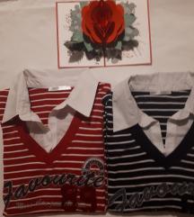 LOT 2 pulovera s lažnom košuljom