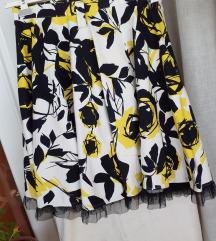 Cvjetna suknja puni krug L/