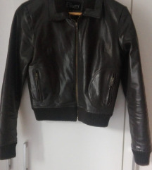 Smeđa kožna jakna(pt uključena)