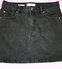 Mini jeans suknja