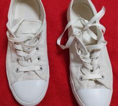 Converse bijele tenisice s srebrnim nitima