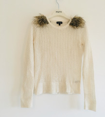 Top shop bež pulover vel 36 S