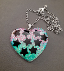 Pastel goth ogrlica od epoxy smole
