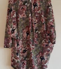 REZZ.Cvjetna bluza tunika na cif plus size