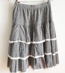 Gingham midi suknja