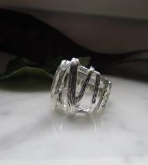Prsten, pravo srebro925, hand made
