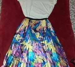 Nova plisirana suknja + H&M majica