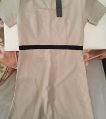 Nova, s etiketom Benetton bež haljina