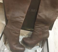 Miss Sixty visoke smeđe kožne čizme 👢