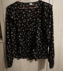 H&M floral print košulja M novo