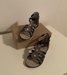 Tamnoplave sandale sa cirkonima