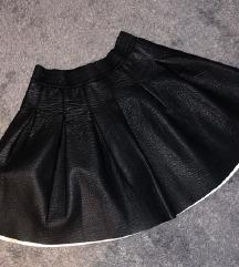 H&M faux leather / kožna suknja