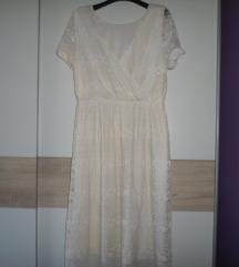 ASOS  haljina od čipke boje vanilije vel.44/46