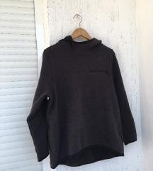 NIKE fleece siva hoodie / majica s kapuljačom