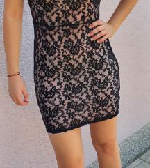 kratka čipkana haljina