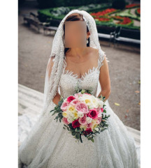 Vjenčanica + veo + bolero i poklon tijara i kolut