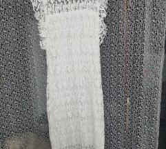 Bijela čipka midi haljina