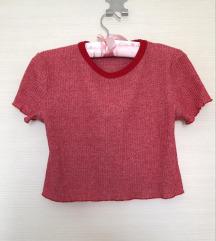 Crveni crop top / majica kratkih rukava