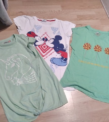 Lot majica za djevojčice 12-13 god
