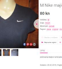 M Nike majica, original